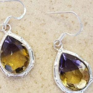 """Jewelry - 8ct Ametrine Earrings 1.5"""""""